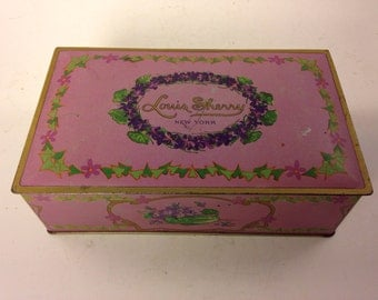 Collectible Louis Sherry Candy Tin by Canco