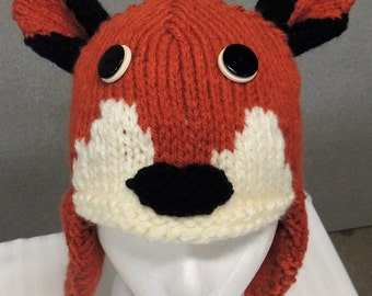 Fox Earflap Hat