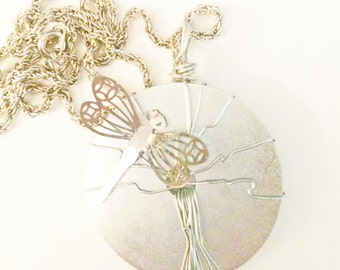 Tree Pedant Necklace-Dragonfly-Tree Pendant- silver