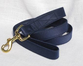 Dog Wedding Leash~Navy Satin Dog Leash~Dog Tuxedo~Dog Wedding Leash~Dog Ring Bearer~Wedding Dog Attire~Dog Wedding~Blue Dog Leash~~