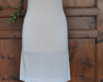 Gold knit dress