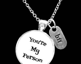 Best Friend Gift, You're My Person Necklace, BFF Necklace,  Best Friend Necklace, Sister Necklace, Gift BFF Necklace