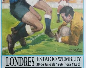 1966 World Cup Final England - Germany - Original Vintage Poster