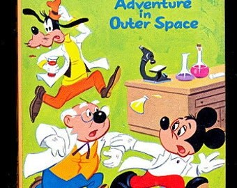 1968 Mickey Mouse Adventure in Outer Space Big Little Book 5750
