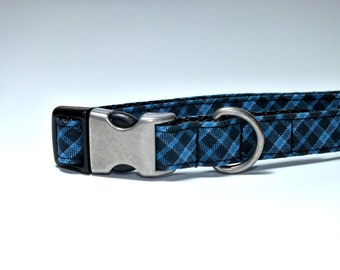 SALE READY to SHIP Blue and Black size small 5/8 with a Hybrid Metal Buckle
