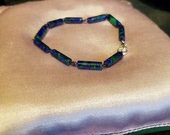 "7.5"" Azurite & Malachite Bracelet"