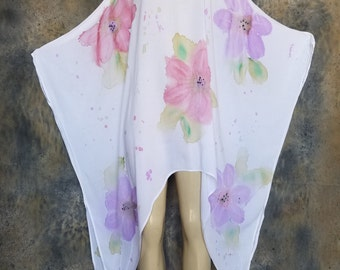 Water Color Flower Poncho