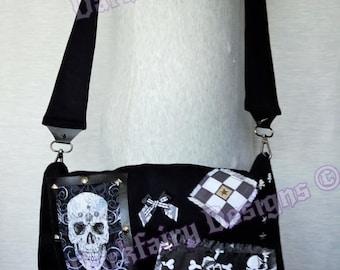 Monochrome skull bag
