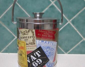 Retro 1970's Ice Bucket - Whiskey - Bare Ware