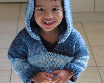 PDF, Ariki's basic Hoodie, crochet, pattern, digital download