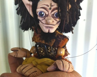 Dalton D'Aguilar - OOAK Marionette Puppet Handmade By The Squeaking Tribe