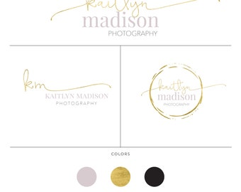 Premade Logo Design  Branding Kit Package  Photography Branding Package  Logo design circle  Easy shop logo and watermark for marketing
