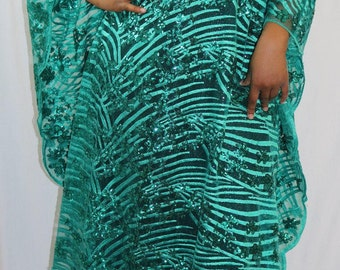Caftan/Green Long Caftan/ Elegant evening caftan/ Women caftans/Oversize dress/ Plus long dress/Green caftans/party caftan/plus size caftan
