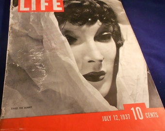 Life Magazine July 12th 1937 Grace The Dummy Mannequin Cover 1930s Fashion