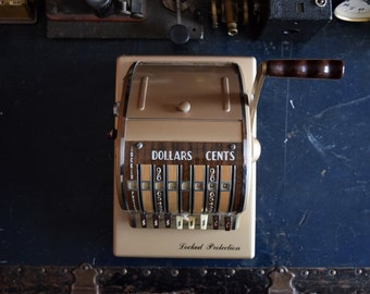 Paymaster Ribbon Writer Series 8000 Cheque Machine- Locked Protection - The Paymaster Corp. Chicago, Illinois