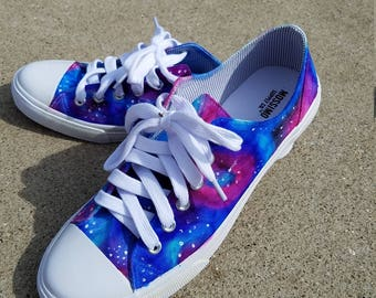 Handmade Galaxy Tennis Shoes