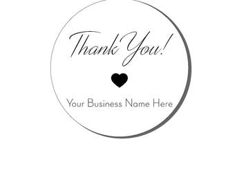 Business Stickers, Thank You Stickers,  Thank You labels, Packaging Labels, Your Business name Here, Small Business Stickers, Logo Labels