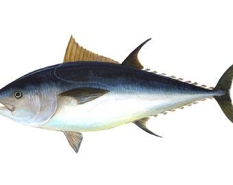 6 feet Black fin Tuna Wooden Sign