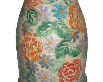 NO SHIPPING CHARGE...Italian Hand Painted Vase