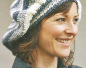 Instant Download - PDF-  A lovely Beret Style Hat Crochet Pattern (CA27)