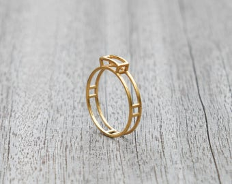 Golden Gem ring