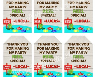 FISHING Birthday Party Thank You Tags