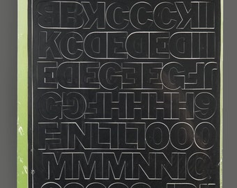 Adhesive vinyl letters etsy for Self adhesive letters for walls