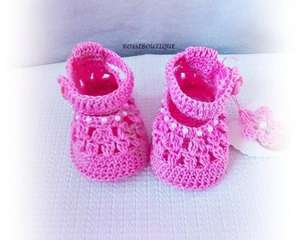 Pink crochet baby shoes, Crochet baby boots, Pink baby shoes, Baby shower, Newborn baby shoes, Baby girls shoes, Knit baby shoes