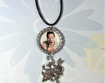 """Jimmy Fallon Necklace w/ """"Love You"""" Heart Charm FREE SHIPPING (Cord Necklace Included)"""