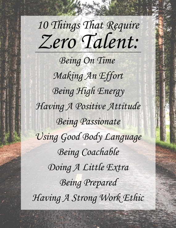 Dashing image throughout 10 things that require zero talent printable