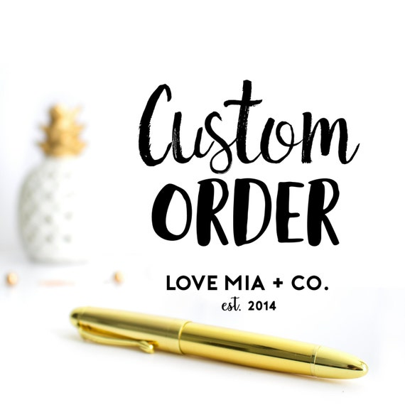 CUSTOM ORDER | Custom Hair Tie Favors Designed by Love Mia + Co.