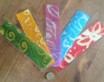 Hand bleach painted bookmark accessory, ideal gifts for bookworms
