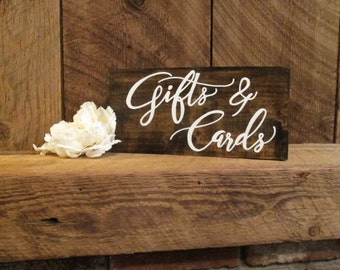 Wooden gifts and cards sign, rustic wood wedding sign, gift table sign, wood cards sign, gifts sign, shabby chic wedding, forest wedding