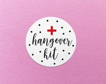 Hangover Kit Sticker, Emergency Hangover Kit, Wedding Hangover Kit, Party Favour Labels, Party Favour Stickers, Hangover Kit Labels