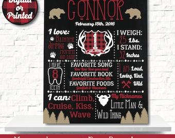 Lumberjack Chalkboard - Lumber jack Chalkboard - Lumberjack Decorations - Bear Chalkboard - 1st birthday chalkboard - first birthday sign