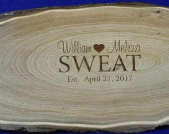 Wedding Guest Book ~ Wood Slab Guest Book ~ Tree Slice ~ Guest Book Alternative ~ Monogram Guest Book ~ Mr and Mrs Sign ~ Wedding Ideas ~