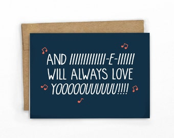 Funny Valentines Card | Love Card | Whitney Houston Always Love YOOUUU! by Cypress Card Co.