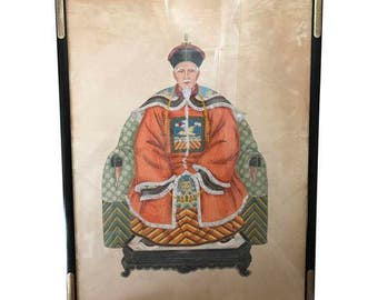 Vintage Chinese Ancestral Portrait