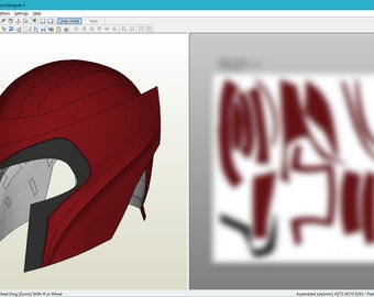 Magneto X3 helmet Pepakura Foam unfold