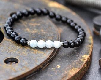 Men's bracelet, Men's stack bracelet, Bracelet for men, Men's jewelry, men's gift, Gift for men, mens beaded bracelet, Men's onyx bracelet