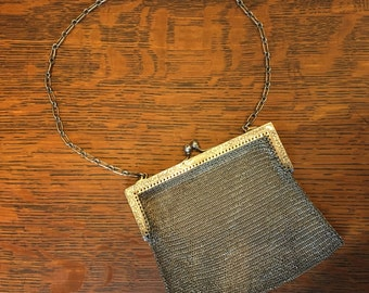 Antique Sterling Chain Mail Purse