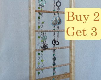 SPRING SALE - Jewelry Stand Organizer Holder, display for earrings, bracelets and necklaces,  samba wood