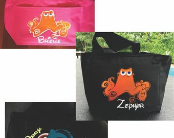 Disney Themed Personalized Lunch Cooler Bag Lunchbox - Great for School, Camp, Snacks