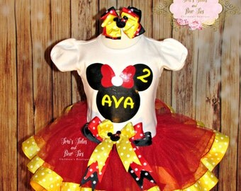 Minnie Mouse Birthday Outfit || Minnie Mouse Tutu Outfit || Original Minnie Mouse || Minnie Mouse 1st Birthday || Minnie Mouse Party Theme