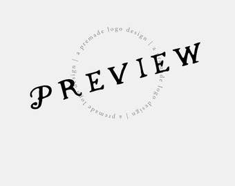 Logo Preview - Try It Before You Buy - Sample a Logo Design - Premade Logo - Photography Business Branding - Customized Logo Design