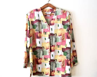 80s Abstract Pastel Jacket