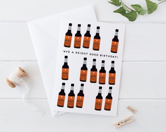 Henderson's Relish Yorkshire birthday card 'Ave a reight good birthday!' A6