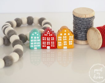 Small houses - Swedish houses  - Miniature houses - Stockholm houses - Clay house - Tiny houses - House ornaments - Swedish home decorations