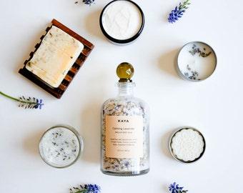 Calming Lavender Spa Box | Large Bath & Body Set |100% Natural | Wedding | Spa Gift for Her, Him, Birthday, housewarming | Thanksgiving Gift
