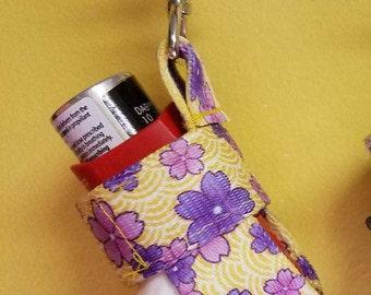 """Asthma Inhaler Case Asthma Inhaler Holder Keychain Kids Jogging Exercise Cozy Cover Clip On Holster """"April Flowers"""""""
